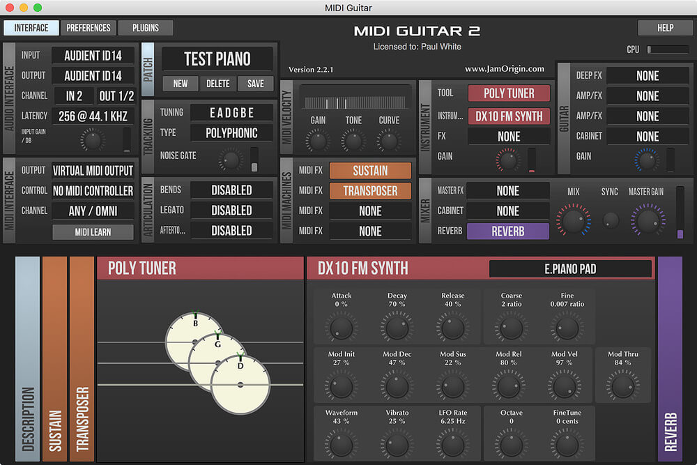 Jam Origin MIDI Guitar 2 Crack